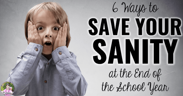 "Image of surprised boy with text, ""6 Ways to Save Your Sanity at the End of the School Year."""