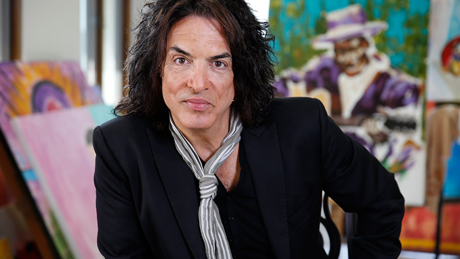VIDEO: Paul Stanley exhibits another kind of talent — painting
