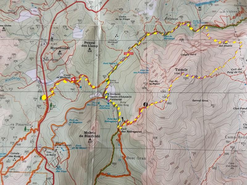 Trekking del Puig Tomir
