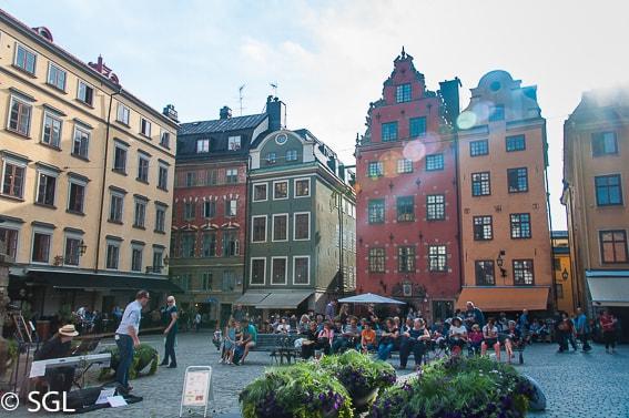 Calles de Gamla Stan en Estocolmo