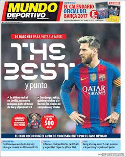 Portada Mundo Deportivo 08 11 2016
