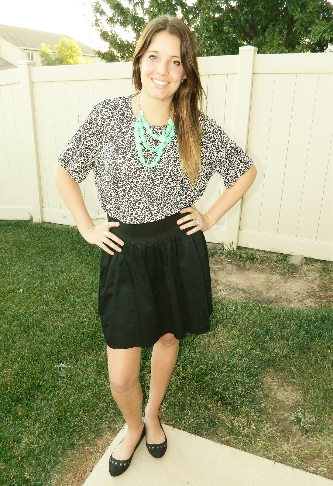 Utah Fashion blogger, modest fashion blogger, animal print, black skirt