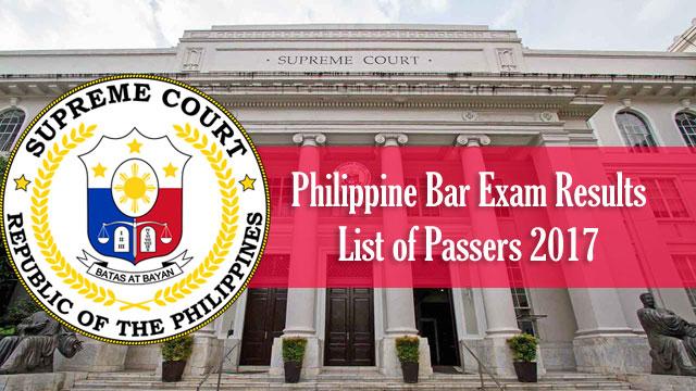 Bar Exam Passers 2017 Full List