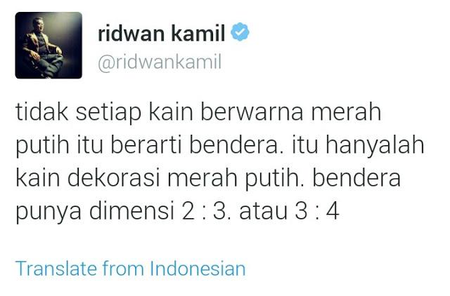 Tamparan Keras Ridwan Kamil Kepada Roy Suryo Soal Tweet Jokowi Injak Merah Putih