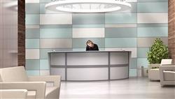 Curved White Reception Desk
