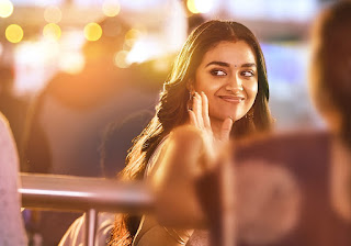 Keerthy Suresh with Cute and Awesome Lovely Chubby Cheeks Smile in Rangde