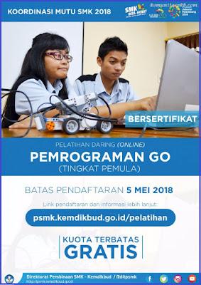 Pelatihan Daring (Online) Pemrograman Go untuk SMK - Direktorat Pembinaan SMK Tahun 2018