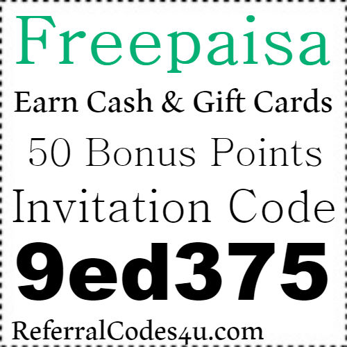 Freepaisa App Referral Code, Invite Code, Sign Up Bonus and Reviews 2018-2019