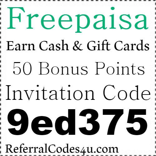 Freepaisa App Referral Code, Invite Code, Sign Up Bonus and Reviews 2021-2022