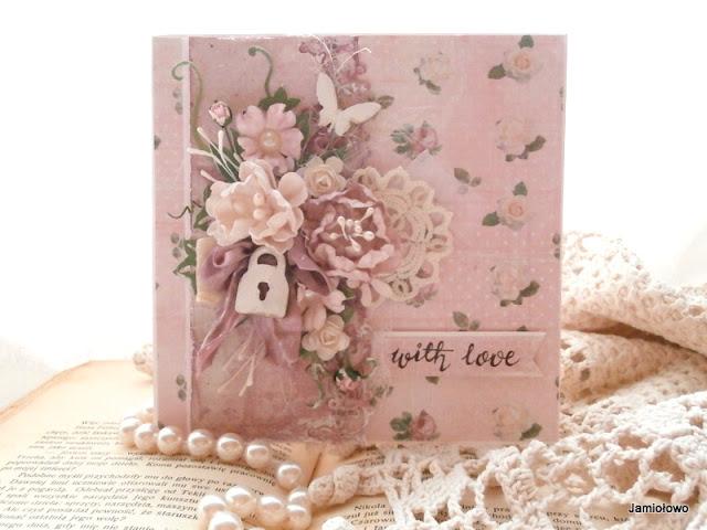 romantyczna kartka pełna róż