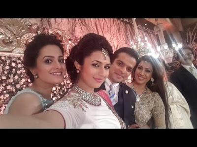 Karan-Patel-Ankita-Bhargava-Reception-selfie