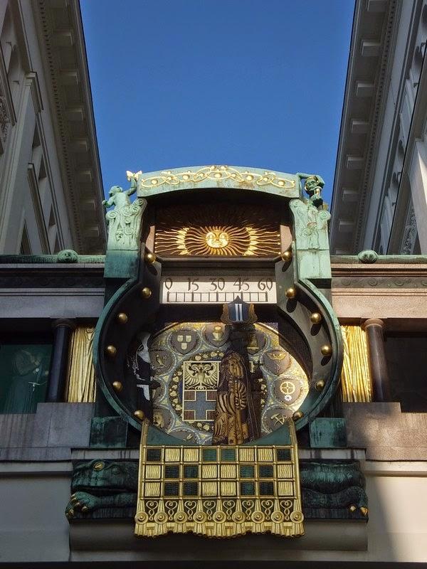 Vienne Wien art nouveau ankeruhr