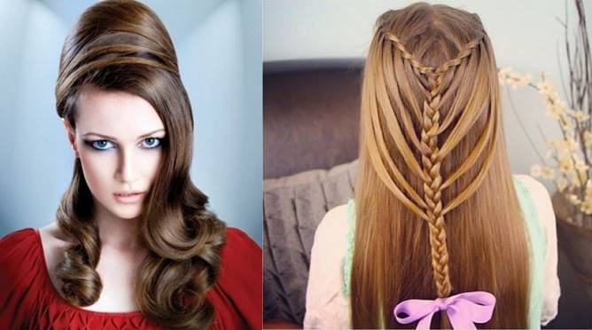 Stylish World For Girls Party Hair Styles