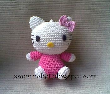Hello kitty amigurumi crochet - YouTube | 302x350