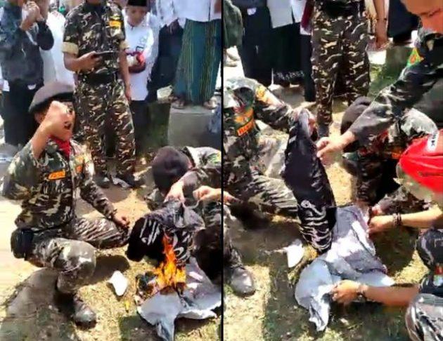 Polisi Selidiki Lokasi Pembakaran Bendera Berlafadz Tauhid