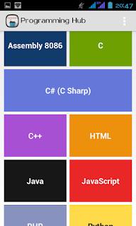 Aplikasi Android Belajar Bahasa Pemrograman melalui Android4