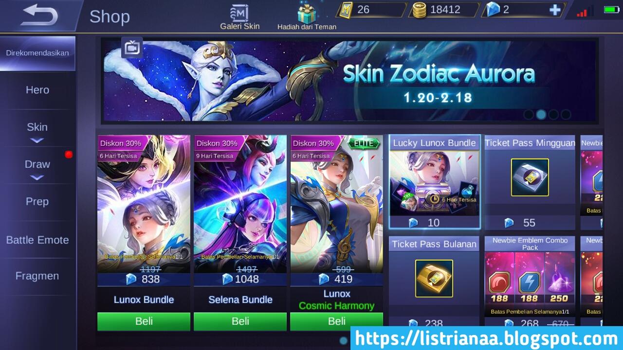 Harga Skin Lunox Cosmic Harmony Cuma 10+ Diamond Moonton Bercanda ? 5