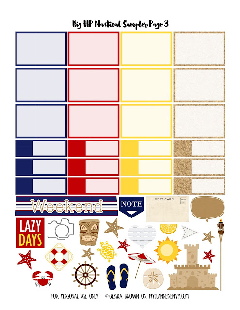 Page 3 of the Big HP Nautical Sampler on myplannerenvy.com
