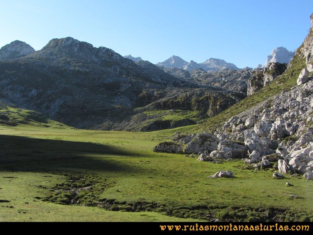 Ruta Ercina, Verdilluenga, Punta Gregoriana, Cabrones: Tremas del Ceñal