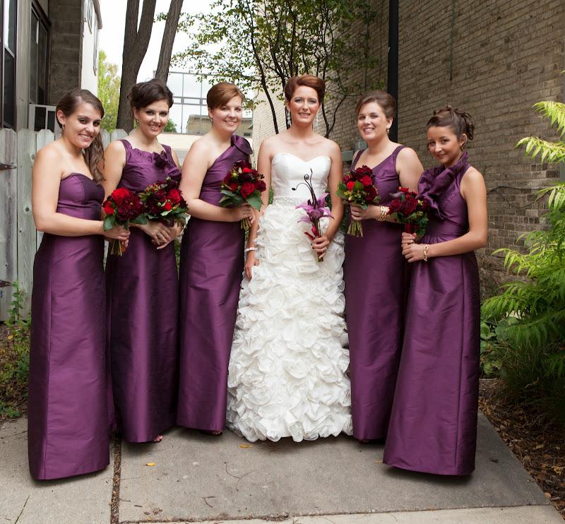Bella Bridesmaid Milwaukee Bride Melissa Benson Designer Lulakate Style S Varied Fabric Poly Shantung Color Eggplant