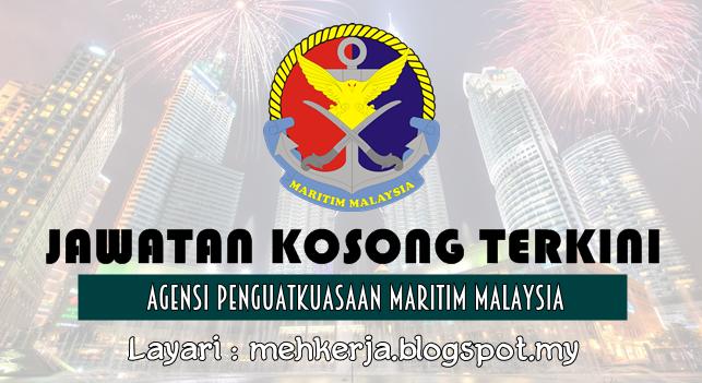 Jawatan Kosong Terkini 2016 di Agensi Penguatkuasaan Maritim Malaysia
