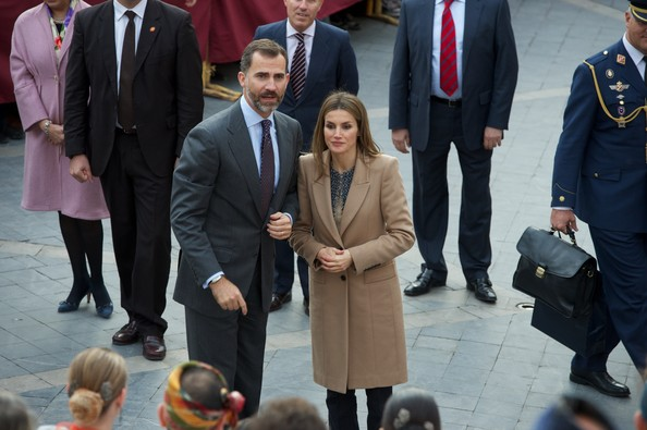 Crown Prince Felipe of Spain and Crown Princess Letizia of Spain visited the village of Caspe in Caspe, Zaragoza. Caspe was founded by Tubal