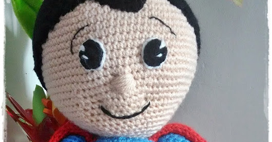 Supersimpatico Superman versione Amigurumi...