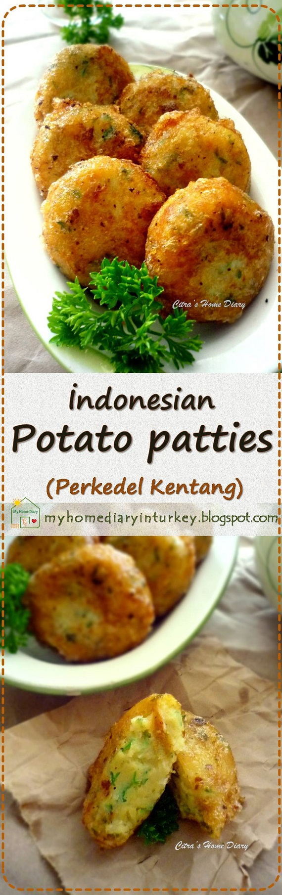 Perkedel Kentang (Indonesian style potato patties) | Çitra's Home Diary. #potatoe #perkedel #vegan #asianfood #indonesianfood #sidedish