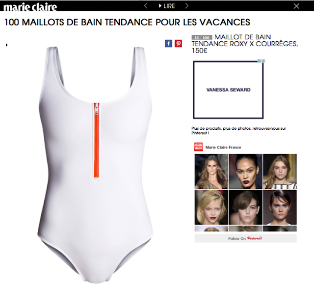 663c3e95b7 Roxy in MarieClaire.fr. The french website is featuring Roxy products