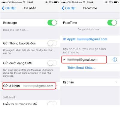 iphone 5 khóa mạng phải dùng Apple ID để sử dụng iMessage và Facetime.