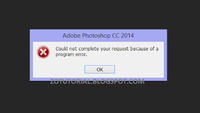 Mengatasi Error Gambar Ketika Dibuka di Photoshop