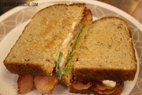 Slow Roasted Tomato BLT with Basil Mayo #sandwich #maindish #bacon #BLT #tomato #recipe