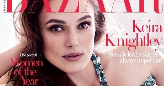 Beauty Mags: Keira Knightley   Harper's Bazaar UK December ...