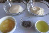 Ingredientes de las Tejas  de lavanda