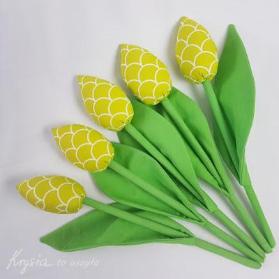 Krysia to uszyła - prezent na 25 rocznicę ślubu rodziców ręcznie szyte tulipany