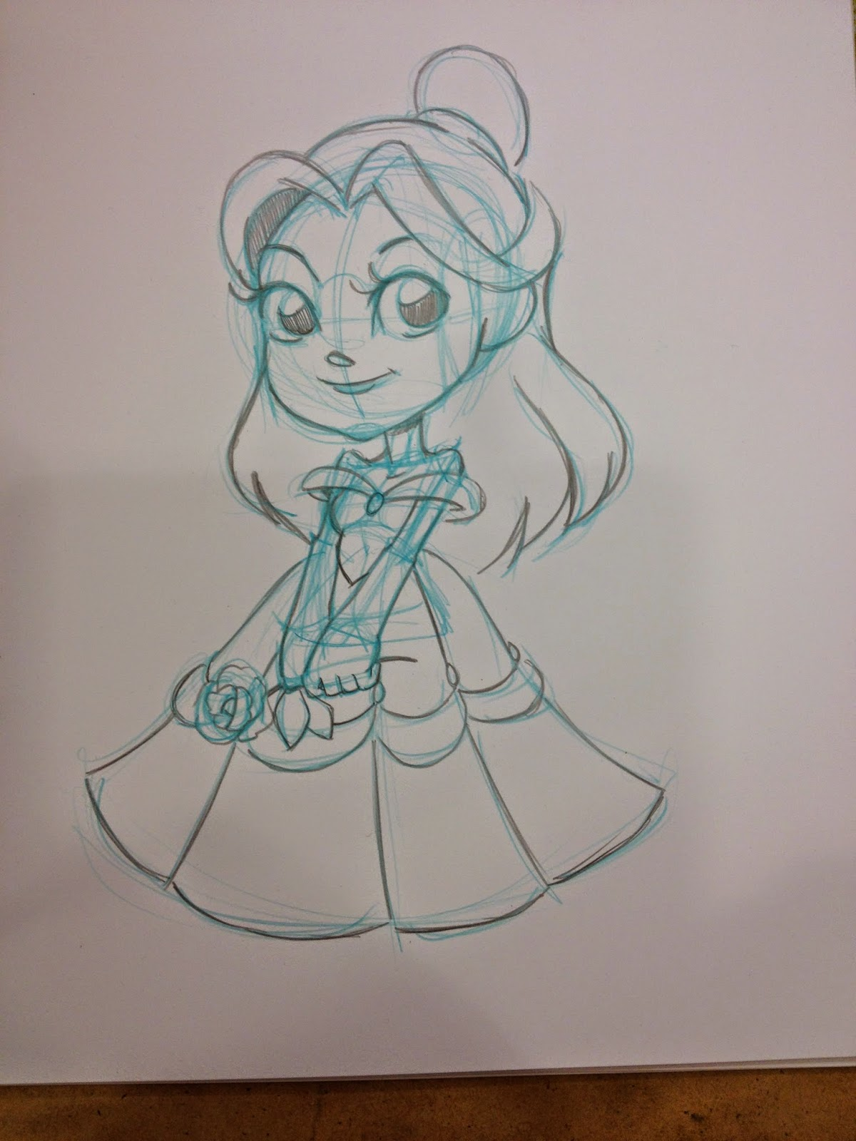 Belle, Beauty and the Beast, sketch, sketch commission, Anime Blast Chattanooga, Nattosoup