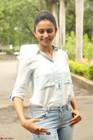 Rakul Preet Singh in Jeans and White Shirt At Jaya Janaki Nayaka le Logo Launch ~  Exclusive 069.JPG