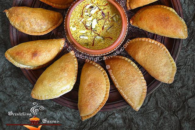 Baked Moong Dal Gujiya Recipe   Oven Baked Moong Dal Karanji