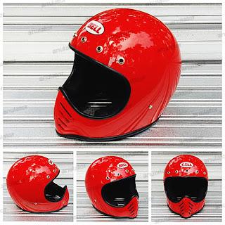Helm Cakil Replika Moto3 Bell Merah Cabe