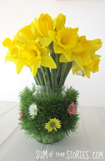 Upcycled Spring vase and pen pot