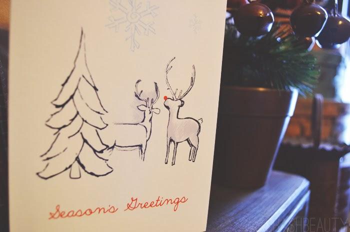 Side Street Design Reindeer and tree card
