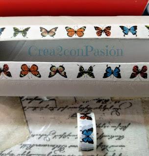 Organizador-cintas-washi-tape-reciclando-un-envase-de-snaks-mariposas-Crea2-con-Pasión