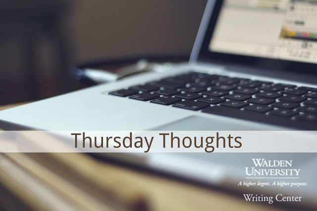 The title image of this blog: A laptop with the words Thursday Thoughts Overlaid