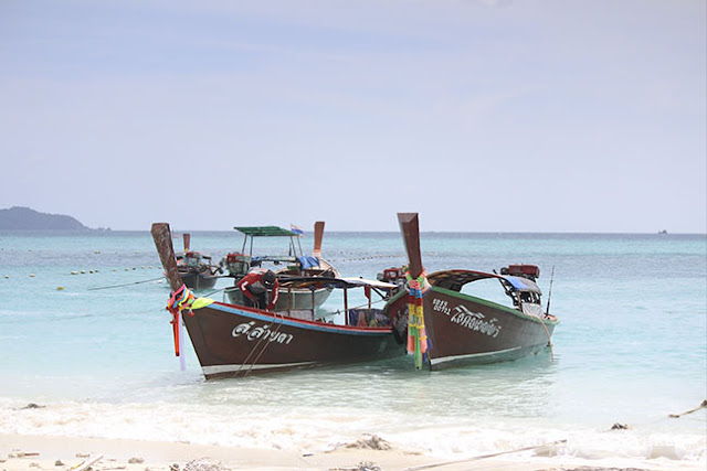 Longtail boats in Ko Lipe, Thailand