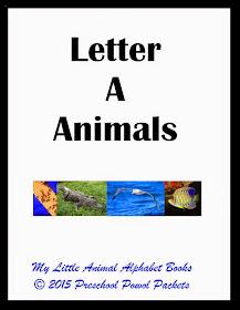 Free My Little Animal Alphabet Books Letter A Preschool Powol Packets