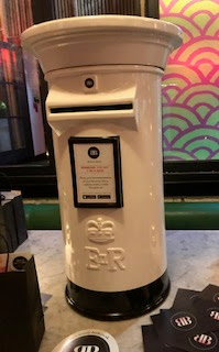 postbox for the beauty book launch