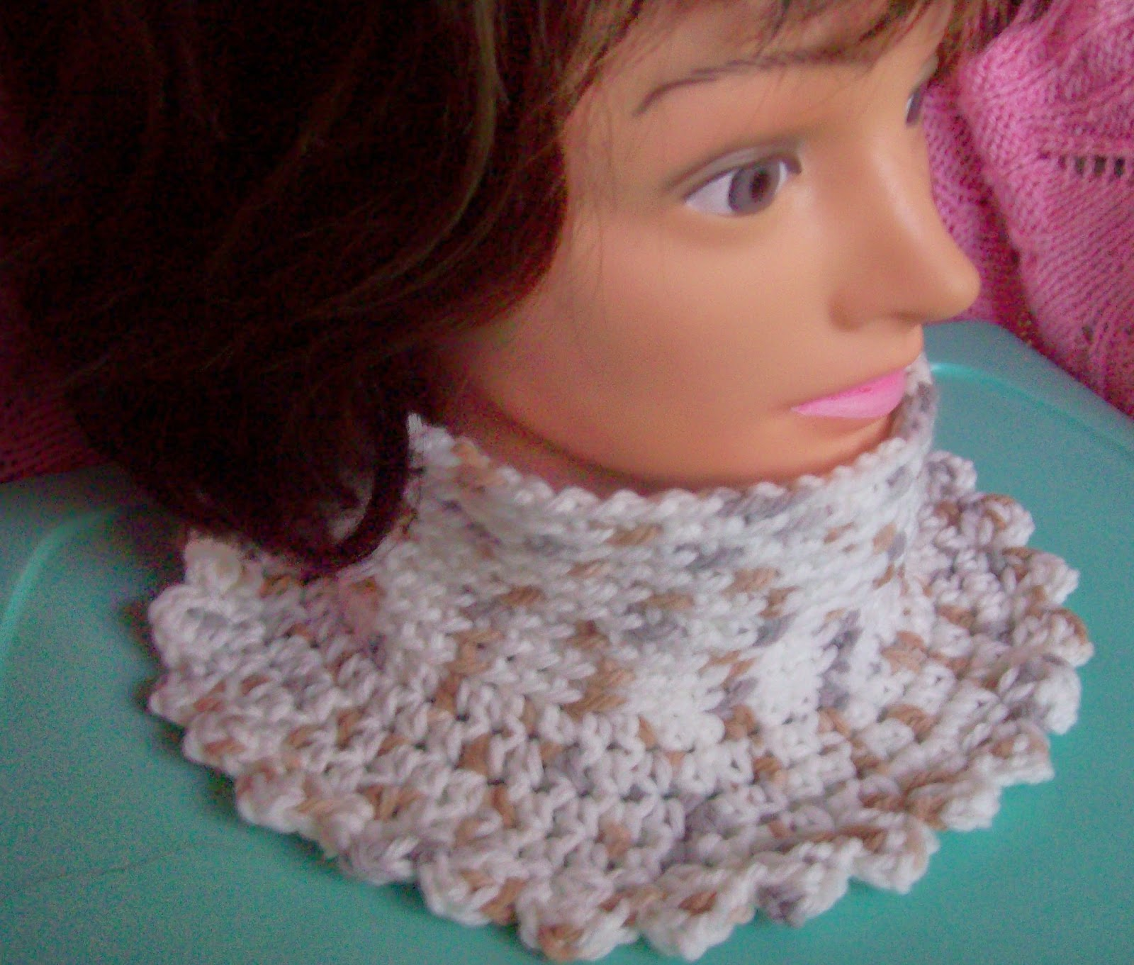 quick and easy crochet neck warmer polo style