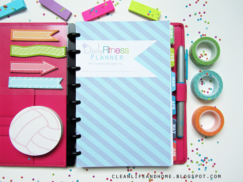 """Clean Life and Home: Daily Fitness Planner {Half Letter 5.5"""" x 8.5""""}"""