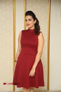 Telugu Tollywood Anchor Manjusha Pos in Red Short Dress  0013.JPG