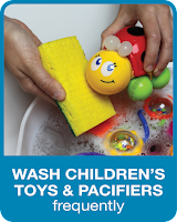 Picture: Wash Children's Toys and Pacifiers Frequently